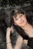 attraktiv kvinnlig Arkivfoto
