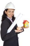 attraktiv lady för arkitekt Fotografering för Bildbyråer