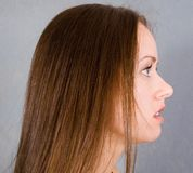 attraktiv model proflie Royaltyfri Foto