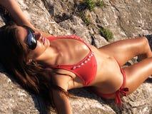 attraktiv modell Fotografering för Bildbyråer