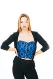 attraktiv modell Royaltyfria Foton