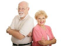 attraktiv optisk pensionärserie Arkivbilder
