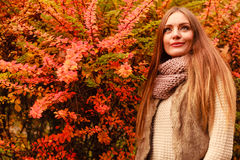 attraktiv parkkvinna fotografering för bildbyråer