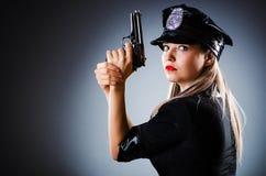 Attraktiv polis Arkivbilder