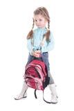 attraktiv ryggsäckflicka Royaltyfri Foto