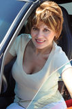 attraktiv säker kvinna Arkivfoton