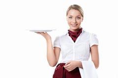 attraktiv servitris Arkivbild