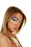 attraktiv skönhetblondinkvinnlig Fotografering för Bildbyråer