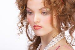 attraktiv sminkkvinna Royaltyfria Bilder