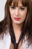 attraktiv ståendekvinna Arkivfoton