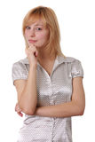 attraktiv ståendekvinna royaltyfri foto
