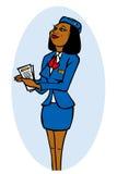attraktiv stewardess Arkivfoton