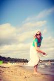 attraktiv strandkvinna Royaltyfri Fotografi