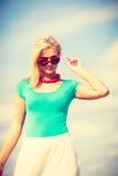 attraktiv strandkvinna Royaltyfri Foto