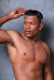 attraktiv svart man royaltyfria foton