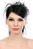 attraktiv tät framsidahuvudhals upp kvinna royaltyfria bilder