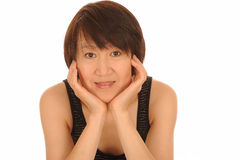 Attraktiv ung asiatisk kvinna Arkivbild