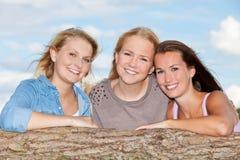 Attraktiv ung kvinna tre Arkivfoton