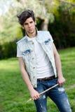 Attraktiv ung stilig man, modell av mode Arkivbild