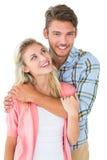 attraktiva par som tillsammans ler barn Royaltyfri Foto