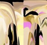 Attraktive abstrakte Grafiken und Kunst in einem netten Design lizenzfreie abbildung