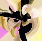 Attraktive abstrakte Grafiken und Kunst in einem netten Design stock abbildung