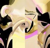 Attraktive abstrakte Grafiken und Kunst in einem netten Design vektor abbildung