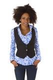 Attraktive Afroamerikanerfrauenaufstellung Lizenzfreies Stockfoto
