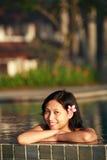Attraktive asiatische Frau Stockfoto