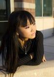Attraktive asiatische Geschäftsfrau stockbilder