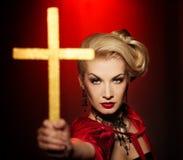 Attraktive blonde Dame   Lizenzfreie Stockbilder