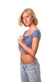 Attraktive blonde Frau Lizenzfreies Stockfoto