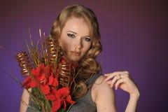Attraktive blonde Frau der Weinlese Lizenzfreie Stockbilder
