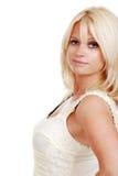 Attraktive blonde Frau trennte Lizenzfreies Stockfoto