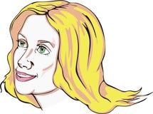 Attraktive blonde junge Frau Lizenzfreie Stockfotografie