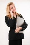 Attraktive blonde kaukasische Geschäftsfrau Stockfotografie