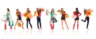 Attraktive Einkaufenfrau lizenzfreies stockbild