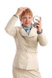 Attraktive fällige Frau Lizenzfreie Stockfotografie