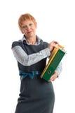 Attraktive fällige Geschäftsfrau Stockfotografie
