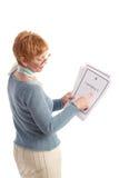 Attraktive fällige Geschäftsfrau Lizenzfreies Stockbild