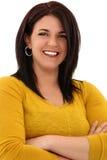 Attraktive Frau in ihrem Jahr-Lächeln Stockbild