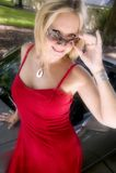 Attraktive Frau im Abendkleid Lizenzfreies Stockbild