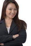 Attraktive Frau im Schwarzen Stockfotos