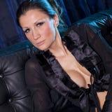 Attraktive Frau im sexy Nachthemd Lizenzfreie Stockfotos