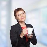 Attraktive Frau 50 Jahre Stockfotografie