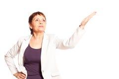 Attraktive Frau 50 Jahre alte Lächeln Lizenzfreies Stockfoto
