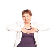 Attraktive Frau 50 Jahre alte Lächeln Stockbild