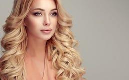 Attraktive Frauenblondine mit eleganter Frisur Lizenzfreie Stockbilder