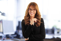 Attraktive Geschäftsfrau Lizenzfreie Stockbilder