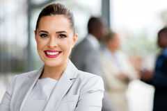 Attraktive Geschäftsfrau stockfoto